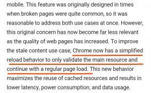 """《Chrome 浏览器改变了""""刷新""""按钮的行为》"""