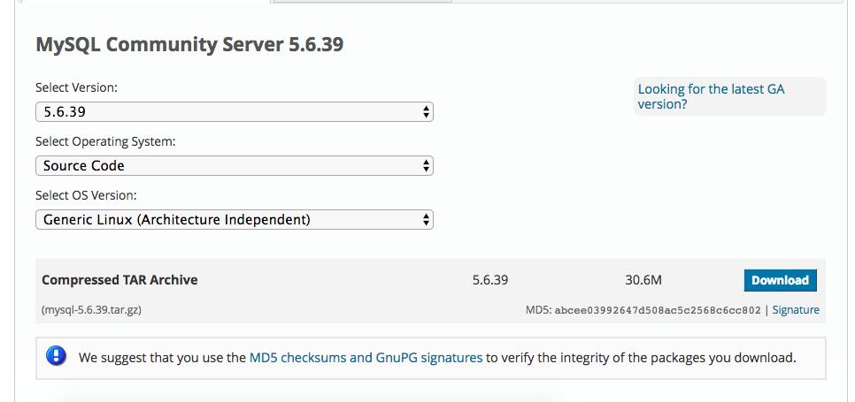 《CentOS 7 源码编译安装MySQL-5.6.39》